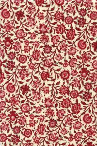 Indienne cotton fabric motif 2 dark red 110cm width