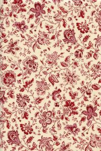Indienne cotton fabric motif 12 dark red 110cm width