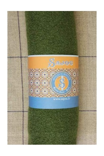 Sajou boiled wool swatch - 50 x 70cm - Colour Green