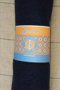 Sajou boiled wool swatch - 50 x 70cm - Colour Navy blue