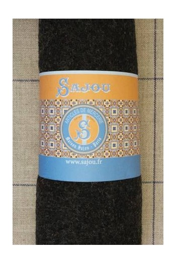 Sajou boiled wool swatch - 50 x 70cm - Colour Dark grey