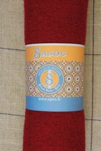 Sajou boiled wool swatch - 50 x 70cm - Colour Red