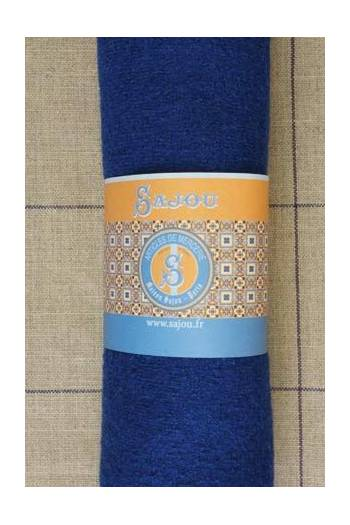 Sajou boiled wool swatch - 50 x 70cm - Colour Blue