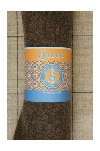 Sajou boiled wool swatch - 50 x 70cm - Colour Brown