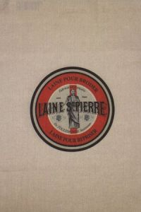 Sajou natural linen tea towel with our Laine Saint-Pierre label