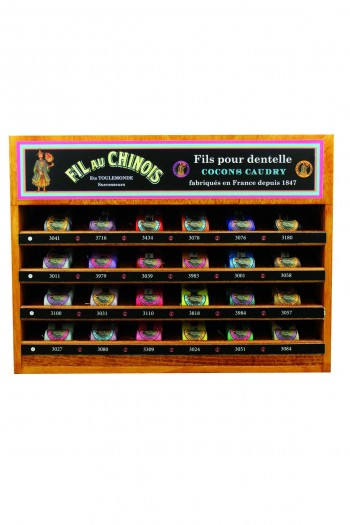 Caudry cocoons 24 colour display case