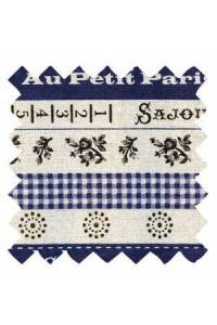 Sajou cotton/linen fabric Cannes collection col.n°1 50 x 55cm swatch