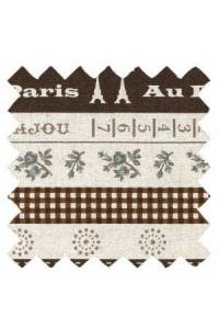Tissu Sajou lin/coton collection Cannes col. n°5 coupon 50 x 55 cm