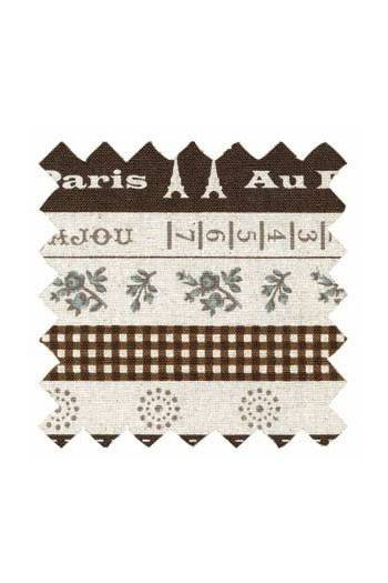 Sajou cotton/linen fabric Cannes collection col.n°5 50 x 55cm swatch