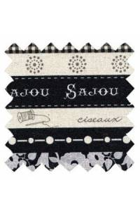 Tissu Sajou lin/coton collection Cannes col. n°6 coupon 50 x 55 cm