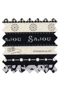 Sajou cotton/linen fabric Cannes collection col.n°6 50 x 55cm swatch