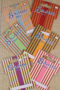Six ribbon and thread storage cards  - Striped Motifs - Series 5