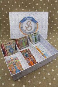 Sajou storage box for ribbons and ribbon cards collection