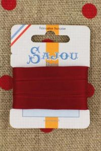 Embroidery ribbon card - 8mm width - Col.015  cherry