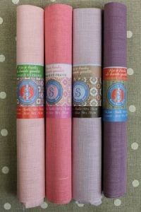 Buy together: four Sajou linen swatches in pink and mauve tones