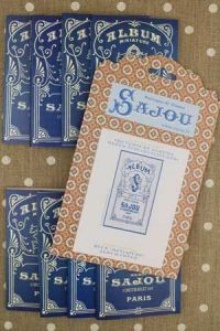 Sajou blue album series and cover pattern chart to embroider