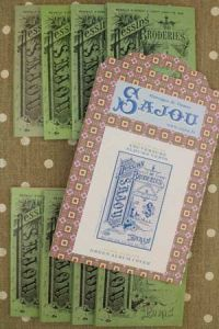 Sajou green album series and cover pattern chart to embroider