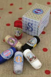 Buy together: Six Sajou sewing thread cocoons in a gift box
