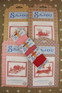 Buy together: 4 Sajou Toile de Jouy pattern chart and thre Retors du Nord card