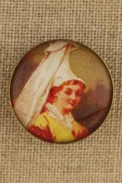 Normandy - Costumes vintage-style button
