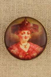 Burgundy - Costumes vintage-style button