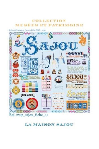 Cross stitch pattern chart: the history of Maison Sajou