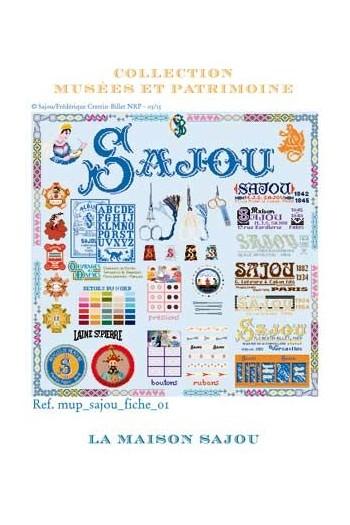 Cross stitch pattern chart: the history of Maison Sajou