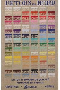 Cross stich pattern chart: Retors du Nord embroidery thread
