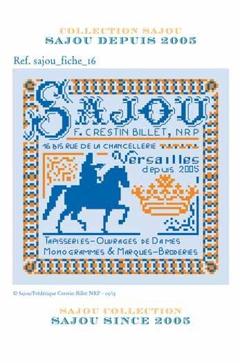 Cross stitch pattern chart: the history of Maison Sajou since 2005