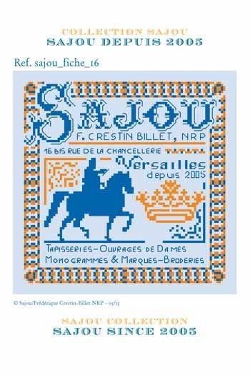 Cross stitch pattern chart: the history of Maison Sajou since 2005