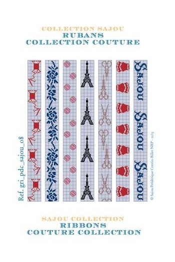 Cross stich pattern chart: Couture collection ribbons