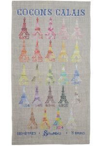 Cross stitch pattern chart: variegated Calais cocoons