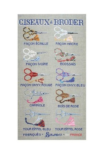 Cross stitch pattern chart: Sajou embroidery scissors