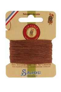 Waxed cable linen size 332 10m card - Colour 330 - Fawn