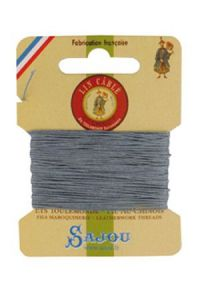 Waxed cable linen size 332 10m card -  992 - Mouse
