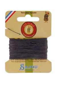 Waxed cable linen size 332 10m card -  872 - Slate