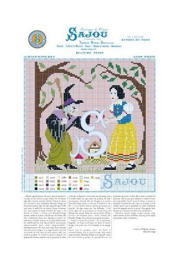 Cross stitch pattern Grimm's fairy tale - Snow White