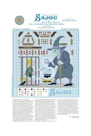 Cross stitch pattern Grimm's fairy tale - Hansel and Gretel