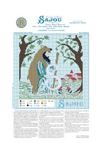 Cross stitch pattern Grimm's fairy tale - Bearskin