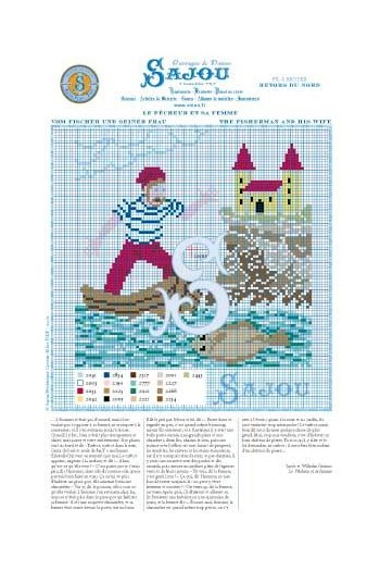 Cross stitch pattern Grimm's fairy tale - Fisherman/wife