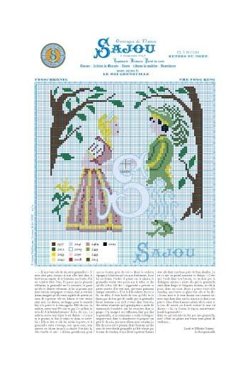 Cross stitch pattern Grimm's fairy tale - The frog king