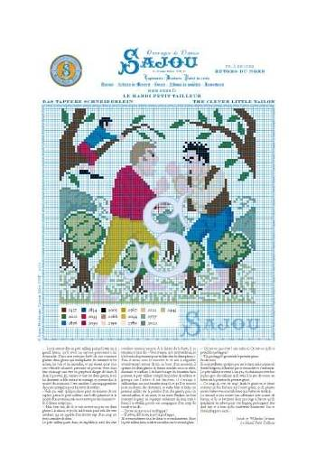 Cross stitch pattern Grimm's fairy tale - The clever little tailor