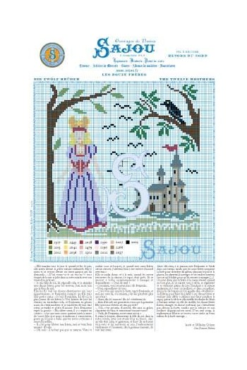 Cross stitch pattern Grimm's fairy tale - The Twelve Brothers