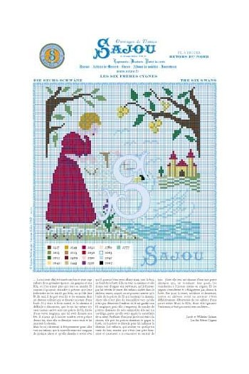 Cross stitch pattern Grimm's fairy tale - The six Swans