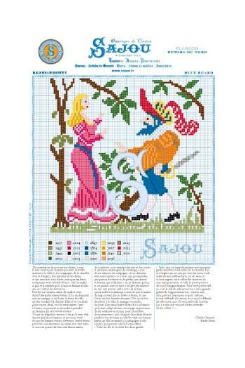vCross stitch pattern Perrault's fairy tale Blue Beard