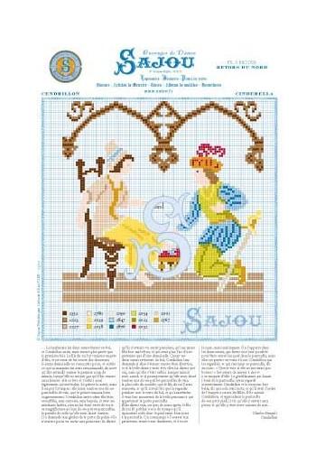 Cross stitch pattern Perrault's fairy tale Cinderella