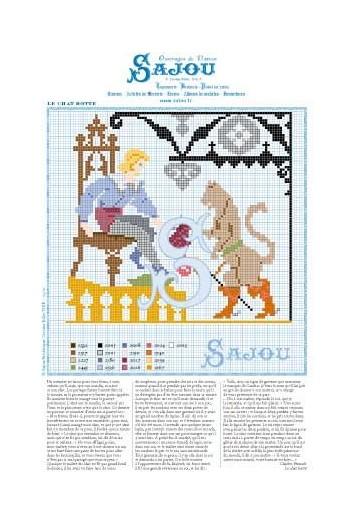 Cross stitch pattern Perrault's fairy tale Puss in Boots