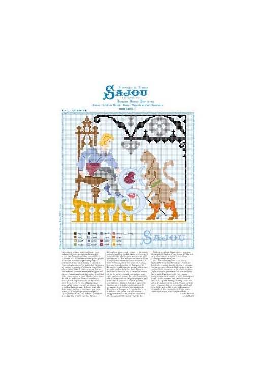 Cross stitch pattern Perrault's fairy tale Puss in Boots