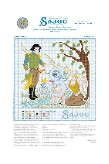 Cross stitch pattern Perrault's fairy tale Griselda