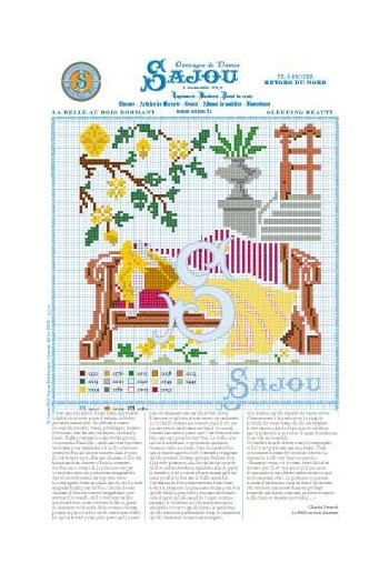 Cross stitch pattern Perrault's fairy tale Sleeping Beauty